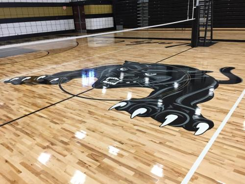 Gym Floor Painting