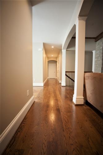 wood floor jobsite finish